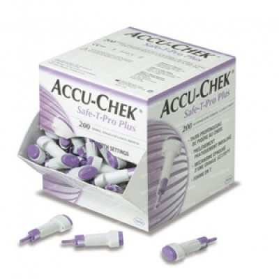 ACCU-CHEK Safe-T-Pro Plus, 200 Stck. Einstechhilfe zur Kapillarblutentnahme