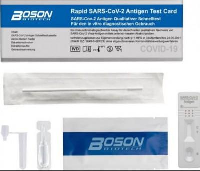 Corona Antigen Schnelltest, Boson rapid, Pack a 20 Stck.