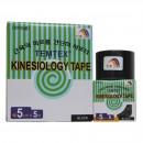 Kinesiologisches Tape, 5 cm x 5 m schwarz